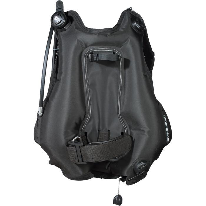 Gilet stabilisateur de voyage plongée bouteille Ultralight noir - 1161826