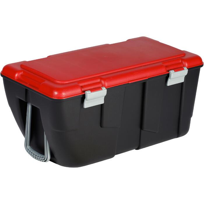 Malle de transport de plongée Discover 80 L noir/rouge - 1161836