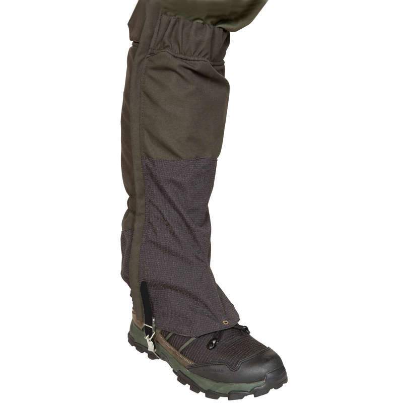 HUNTING GAITERS Shooting and Hunting - SUPERTRACK GAITERS 500 - GREEN SOLOGNAC - Hunting Types