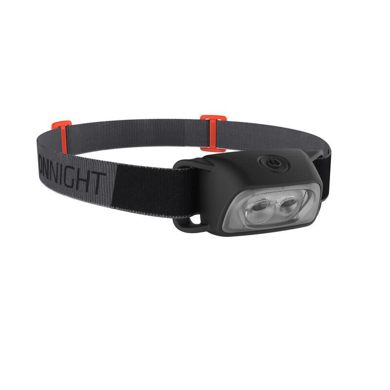 Trekking battery head torch - ONNIGHT 100 - 80 lumen black