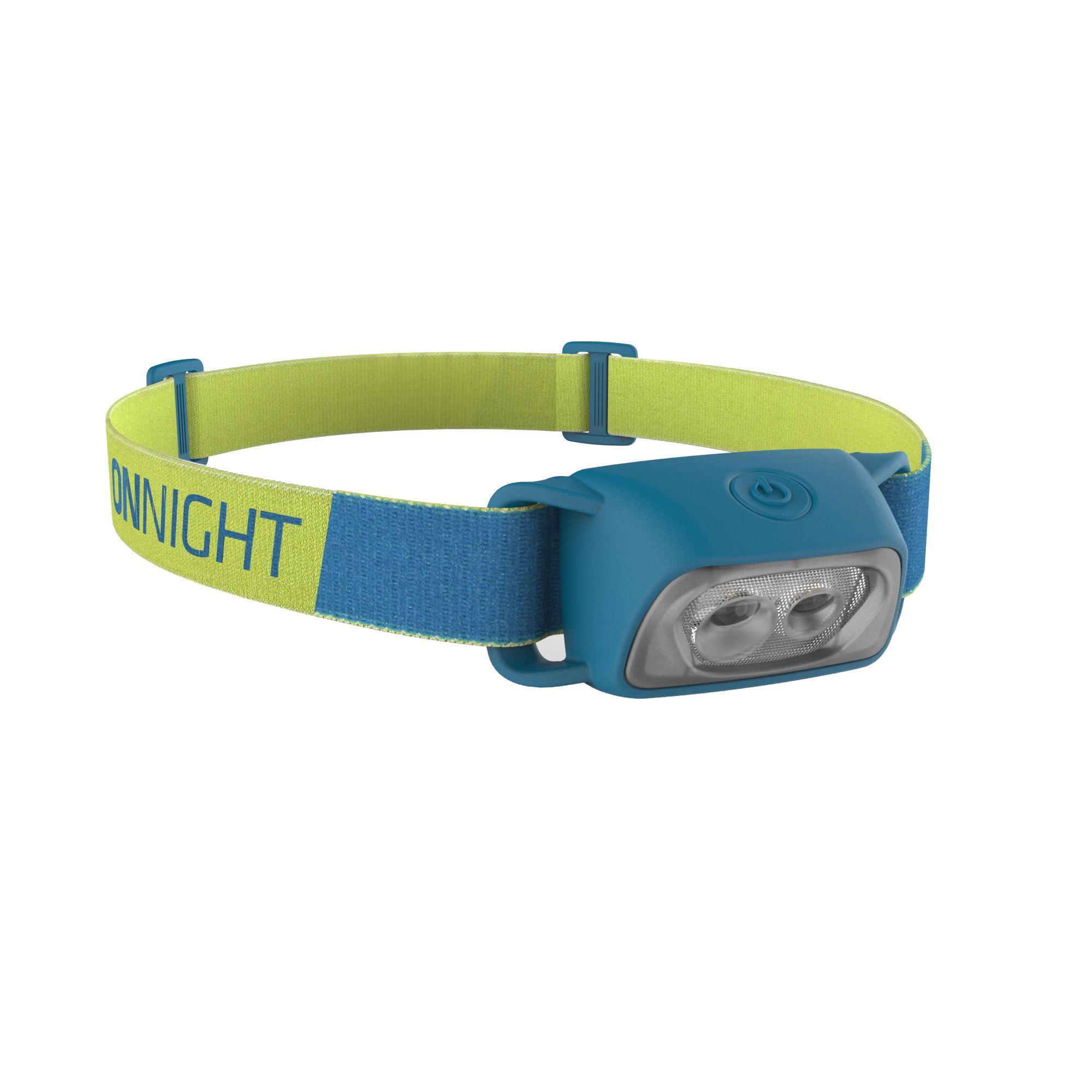 Lampe frontale de trekking à piles - ONNIGHT 100 bleue - 80 lumens - Forclaz