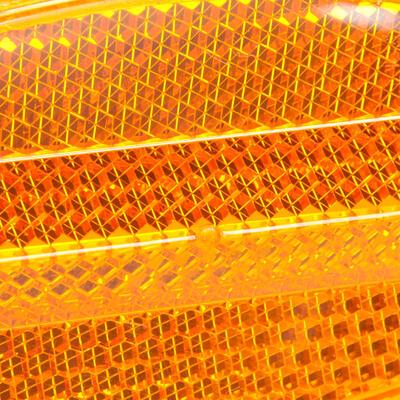 רפלקטור (מחזיר אור) לגלגל במארז זוגי - כתום