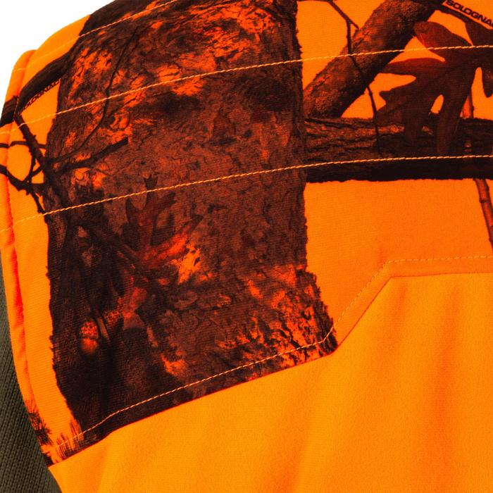 Gilet chasse chaud 500 camouflage fluo - 1161950
