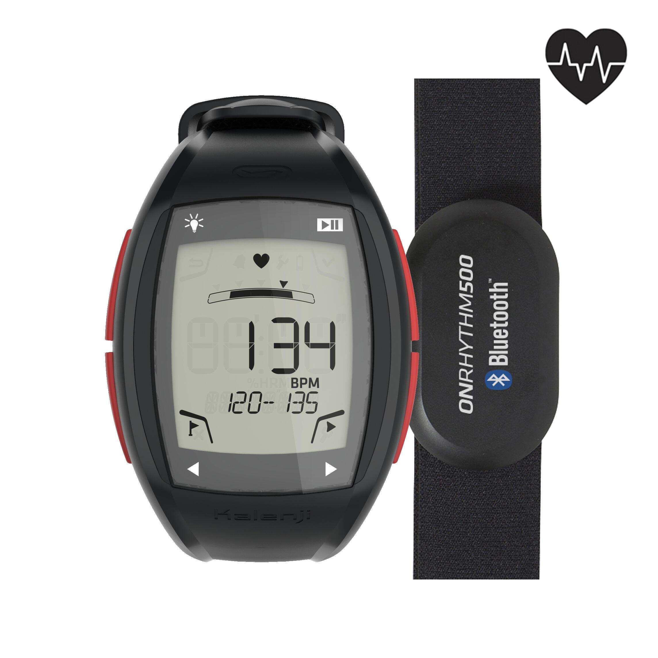 Reloj - monitor cardíaco de running ONRHYTHM 500 ROJO