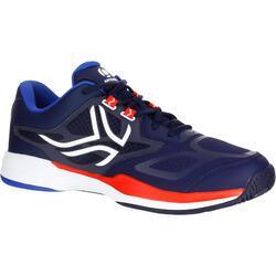 Tennisschoenen voor heren TS560 marineblauw rood multicourt