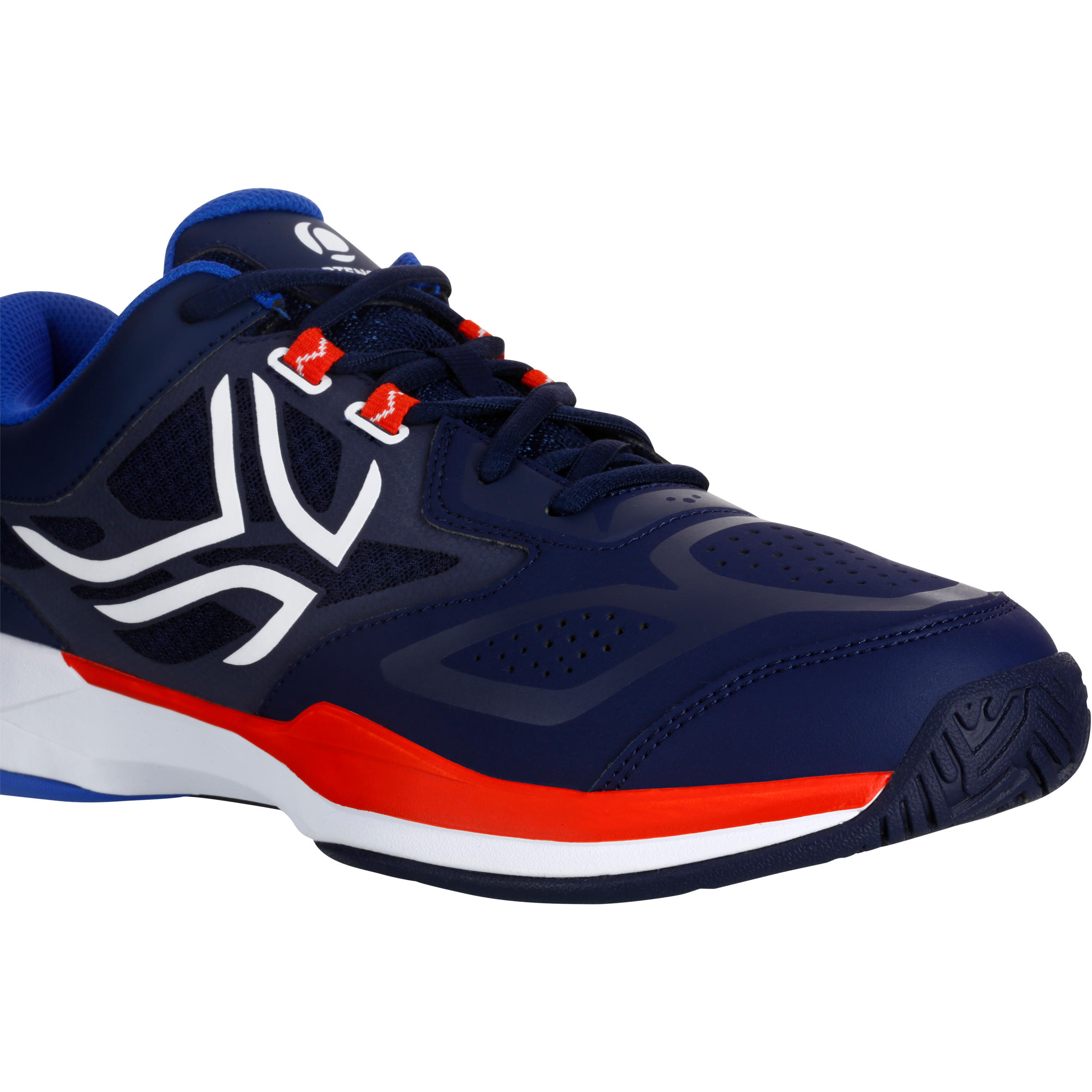 TS560 Multicourt Tennis Shoes - Navy Blue/Red