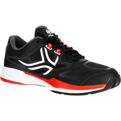 Tennisschoenen voor heren Artengo TS560 zwart rood gravel