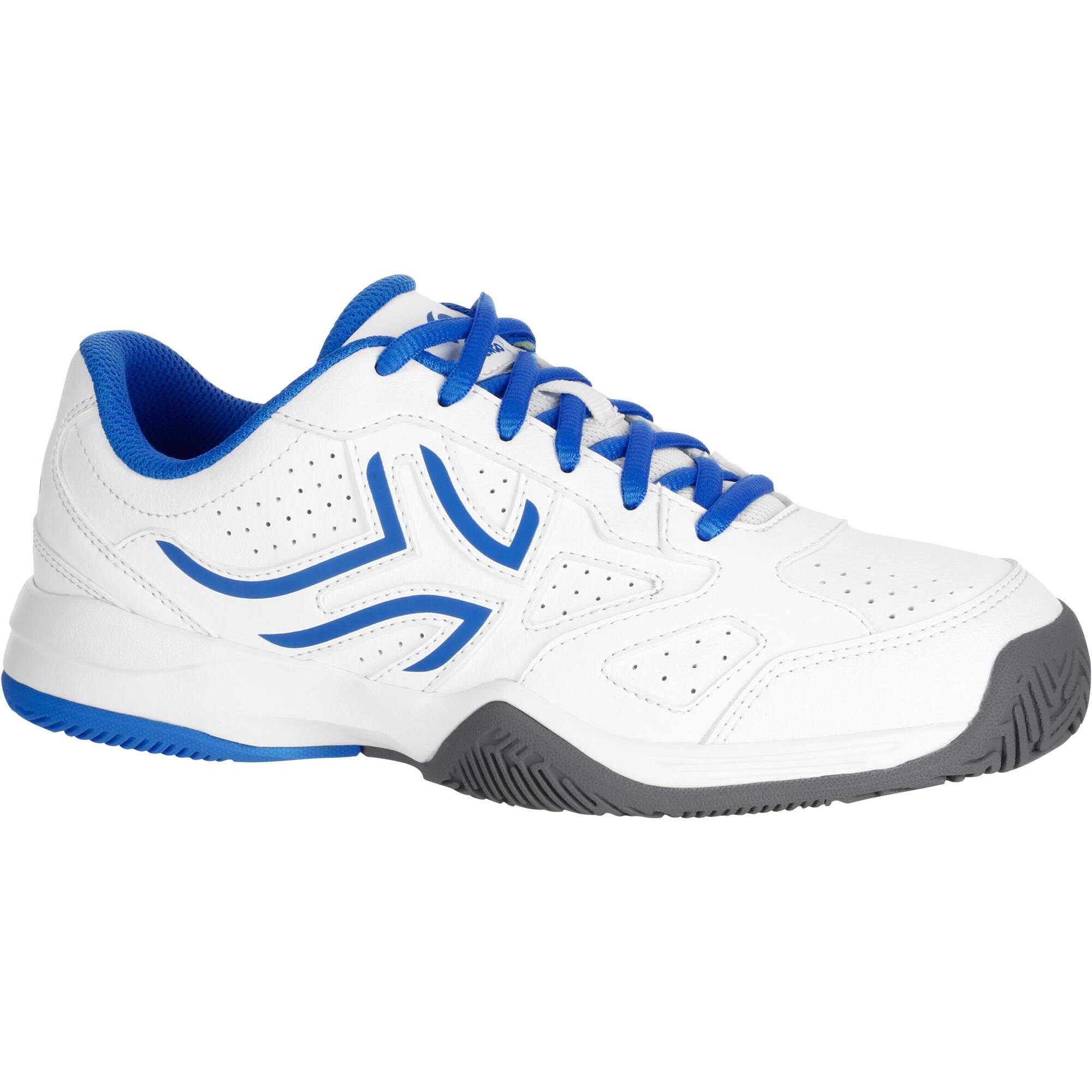 Chaussure de tennis enfant artengo ts530 blanc bleu artengo - Chaussure enfant decathlon ...