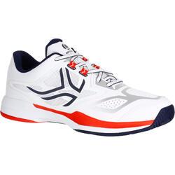 Tennisschoenen voor heren TS560 wit rood multicourt