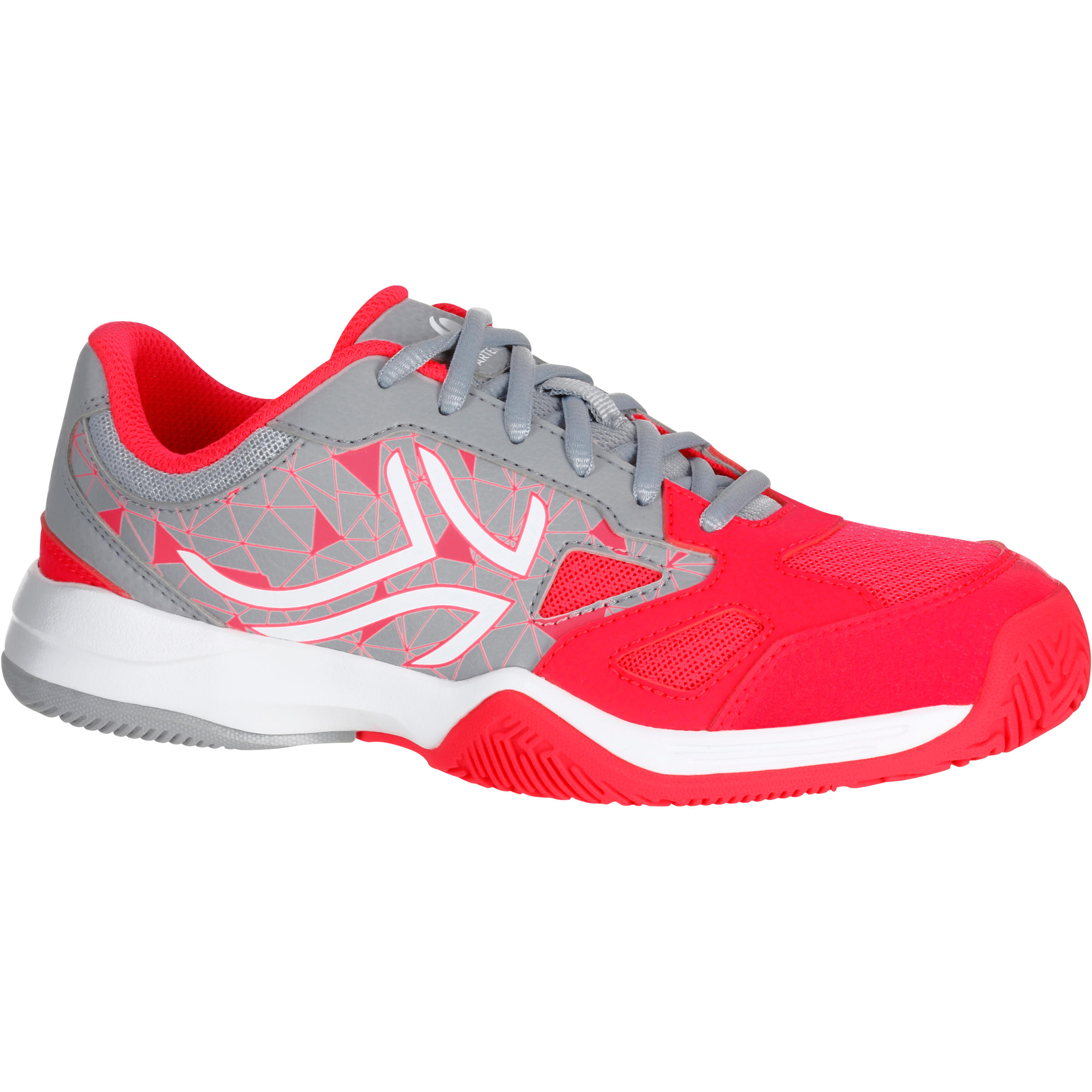 TS560 Kids Tennis Shoes - Grey/Pink
