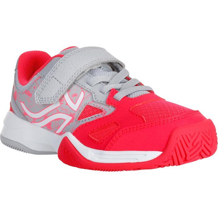 CHAUSSURES ENFANT TENNIS ARTENGO TS560 GRIS ROSE