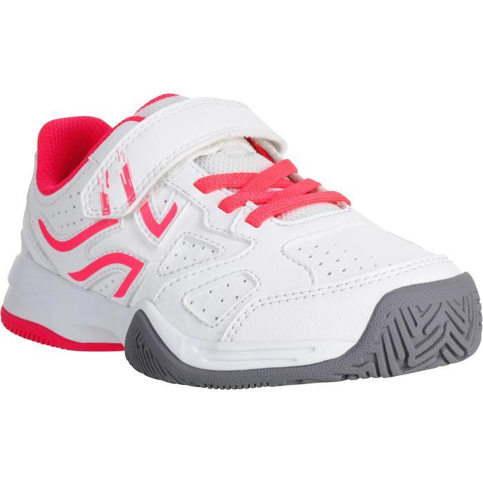 Tennisschoenen kinderen Artengo TS530 wit/roze