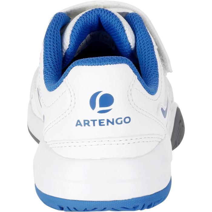 Tennisschuhe TS530 Turnschuhe mit Klettverschluss Kinder weiß/blau