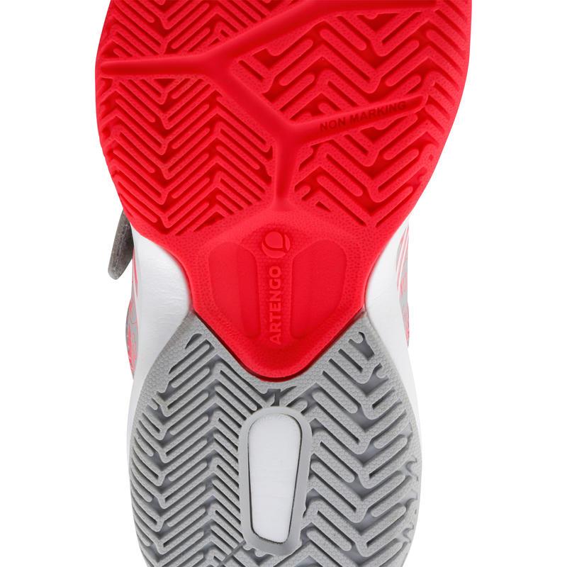 TS560 Kids' Tennis Shoes - Grey/Pink