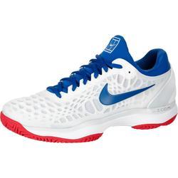 Heren tennisschoenen Zoom Cage 3 wit/blauw/rood