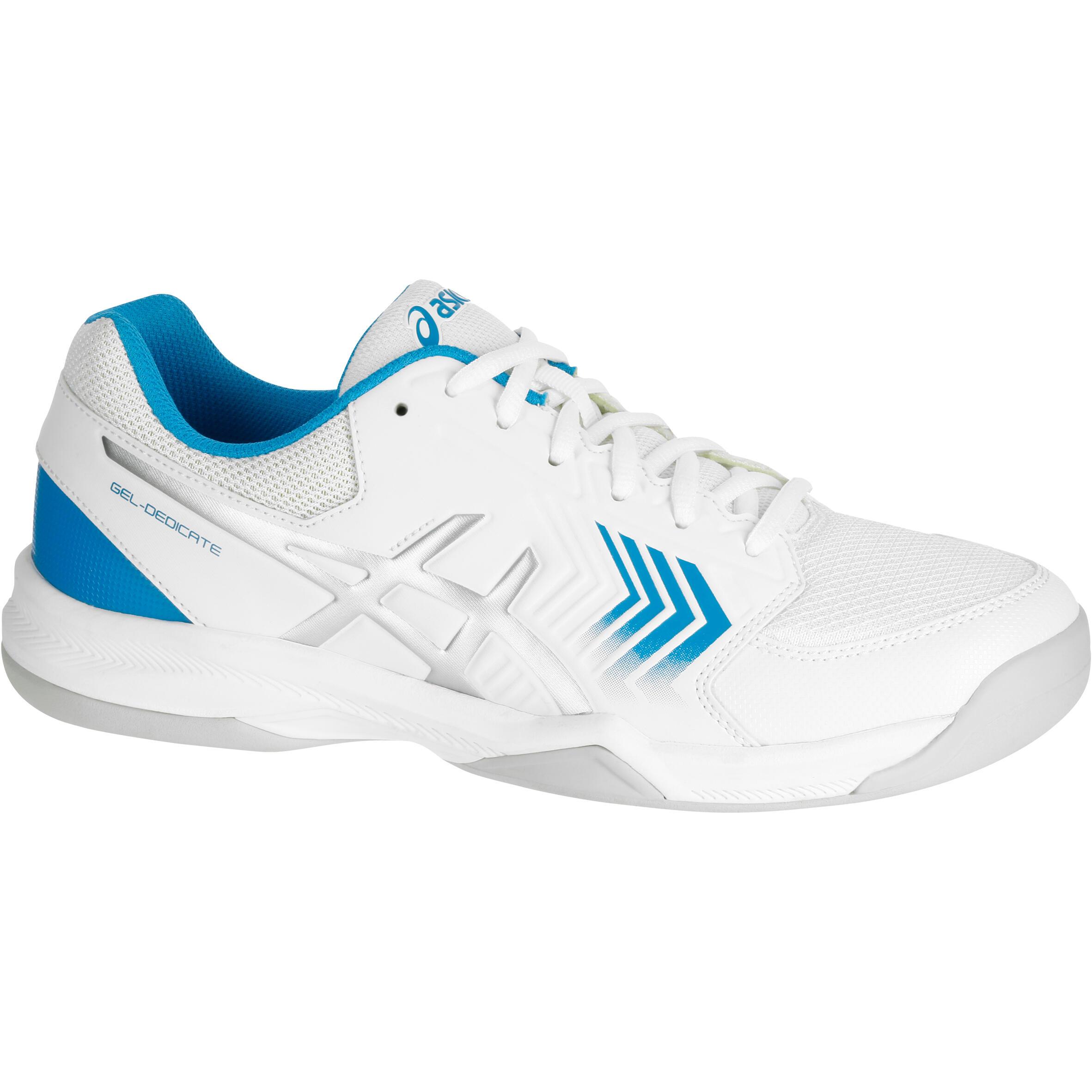 Asics Heren tennisschoenen Gel Dedicate voor tapijt wit