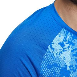 T SHIRT 860 HOMME BLEU CLAIR BADMINTON TABLE TENNIS PADEL SQUASH