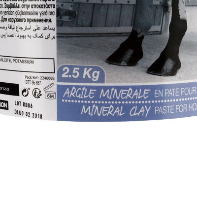 Argile minérale équitation cheval et poney 2,5 KG