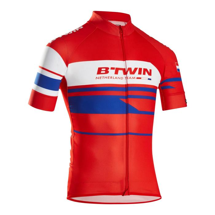 MAILLOT VELO ROUTE MANCHES COURTES HOMME ROADCYCLING 900  XRED NAVY - 1162692