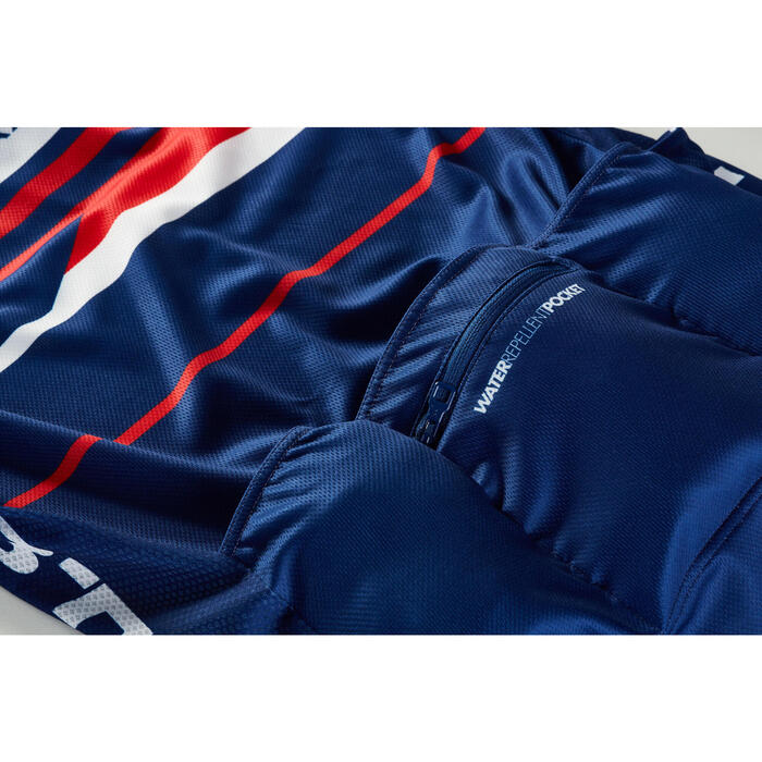 MAILLOT VELO ROUTE MANCHES COURTES HOMME ROADCYCLING 900  XRED NAVY - 1162700