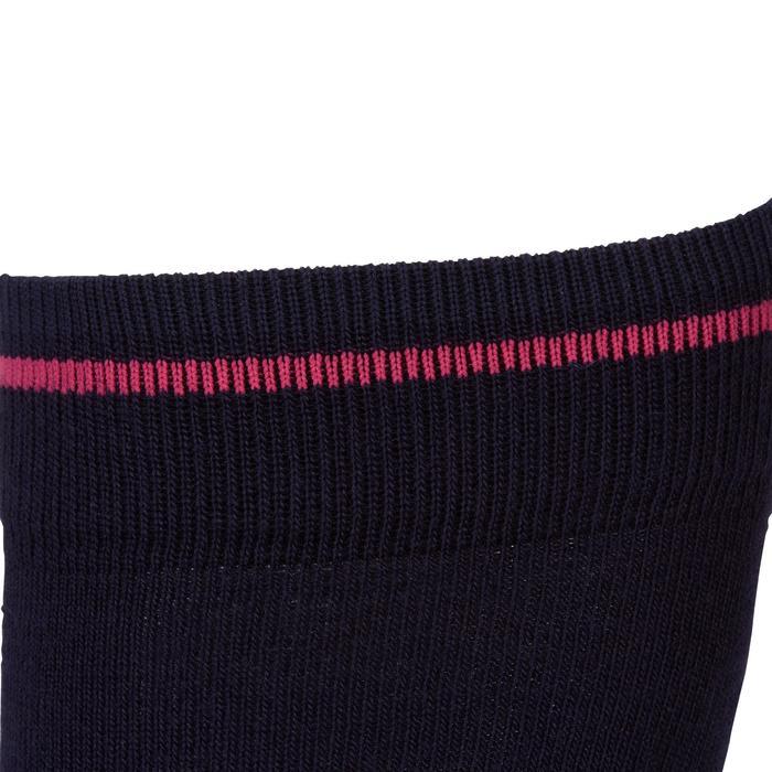 Chaussettes chaudes équitation adulte motif HR gris foncé - 1162777