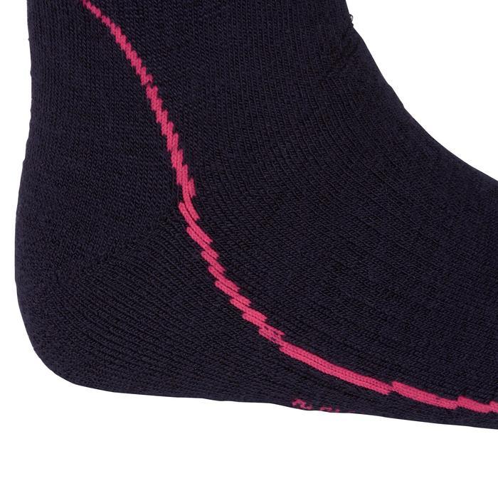 Chaussettes chaudes équitation adulte motif HR gris foncé - 1162779