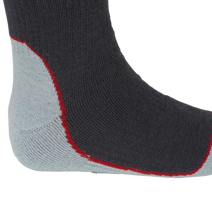 Chaussettes chaudes équitation adulte motif HR gris foncé - 1162789