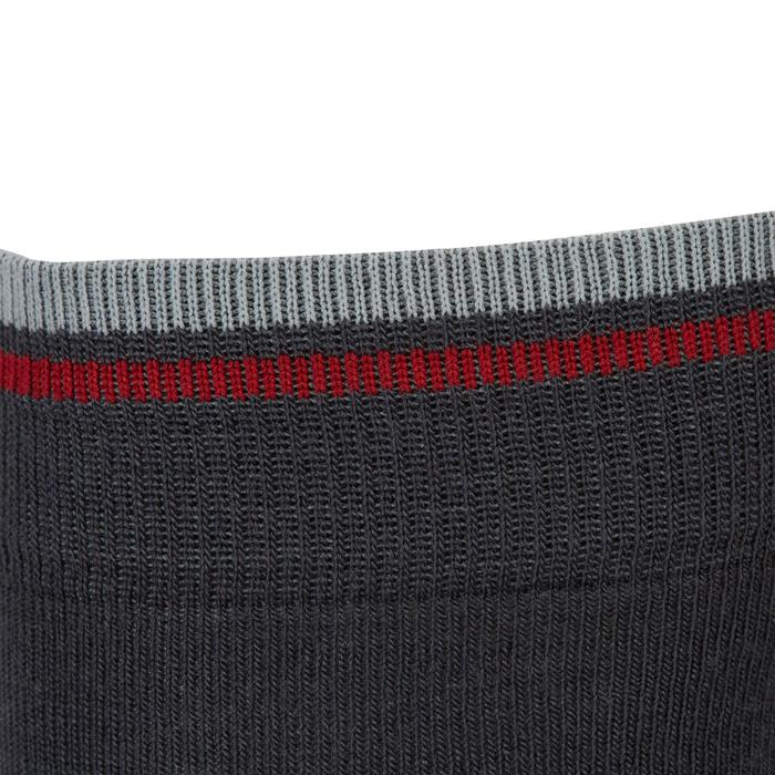 Chaussettes chaudes équitation adulte motif HR gris foncé - 1162792
