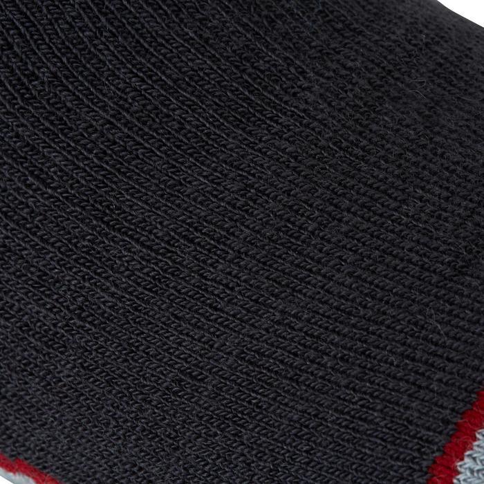 Chaussettes chaudes équitation adulte motif HR gris foncé - 1162793