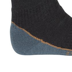 Winter-Reitsocken 500 Kinder Einzelpaar grau/camel