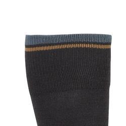 Chaussettes chaudes équitation enfant 500 WARM gris/camel x1
