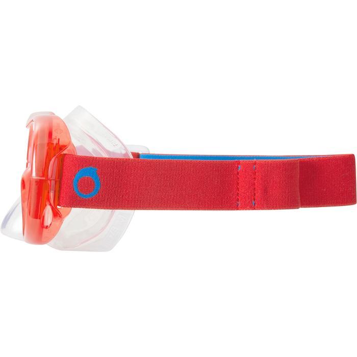 Duikbril SNK 520 voor snorkelen rood turquoise