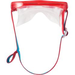 Snorkelset met duikbril en snorkel FRD120 volwassenen rood/turkoois