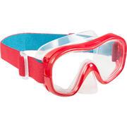 Máscara de snorkeling 520 rojo/azul turquesa
