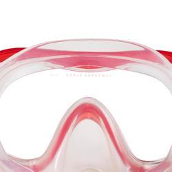 Freediving-set met masker en snorkel FRD 120 rood/turkoois volwassenen