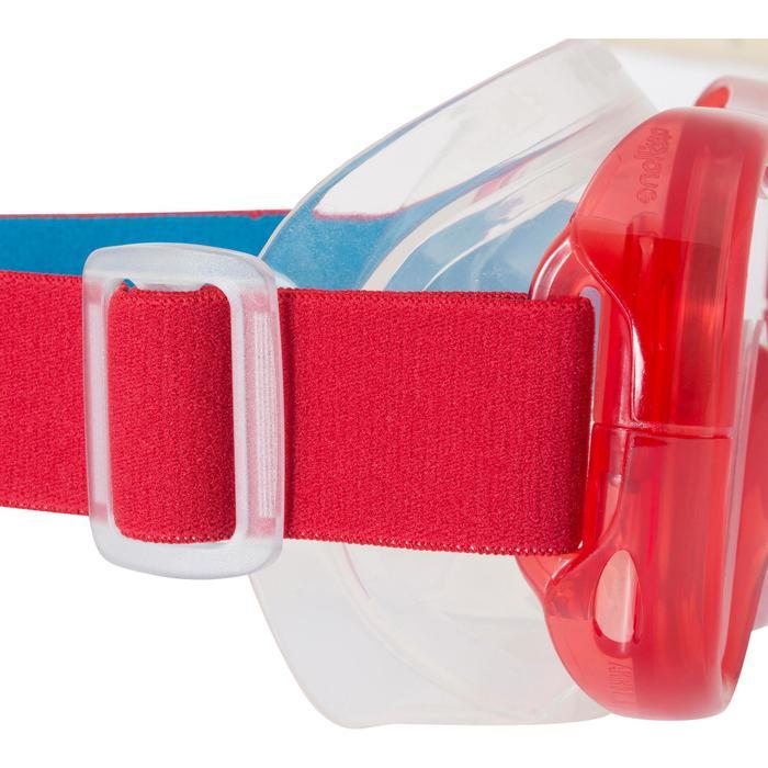 Schnorchel-Set Freediving FRD120 Erwachsene rot/türkis