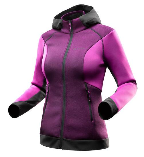 Warme stretch damessweater voor trekking Forclaz 900 gemêleerd - 1163078