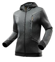 Warme stretch herensweater voor trekking Forclaz 900 gemêleerd grijs - 1163082
