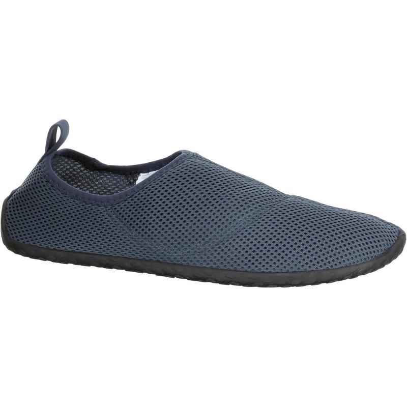 Waterschoenen voor volwassenen Aquashoes 100 donkergrijs