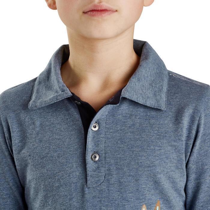 Polo manches longues équitation enfant INDIAN PONEY - 1163227