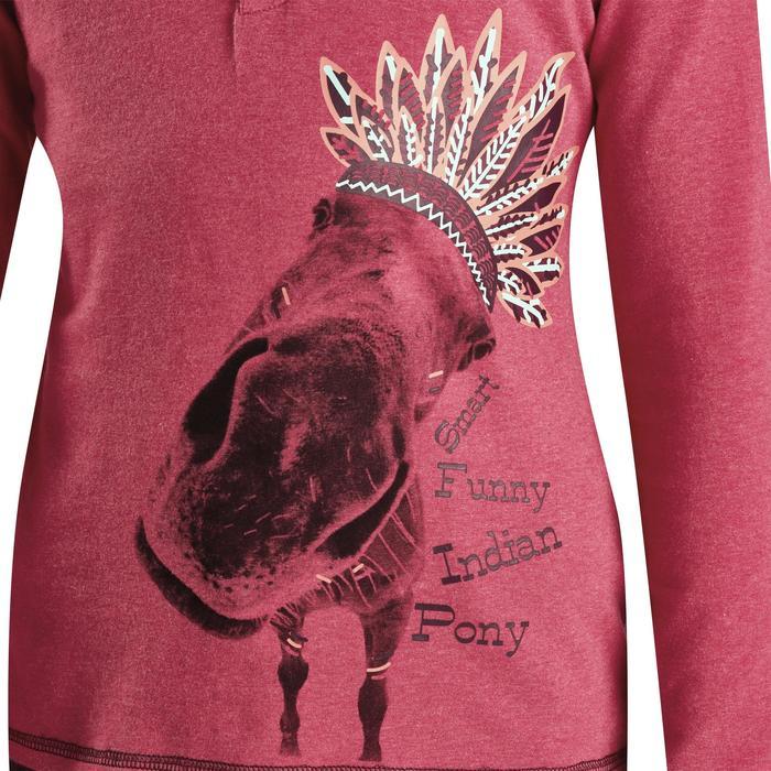 Polo manches longues équitation enfant INDIAN PONEY - 1163237