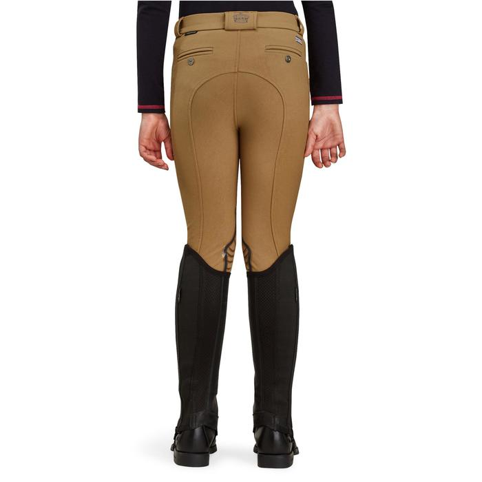 Pantalón equitación niños BR560 GRIP badanas silicona camel