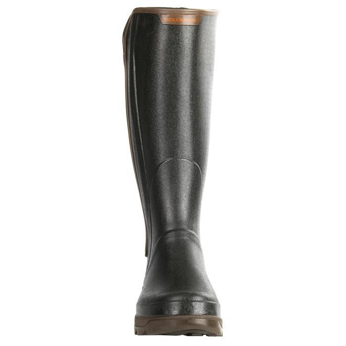 Jagdstiefel Renfort 540 Gummistiefel schwarz/braun