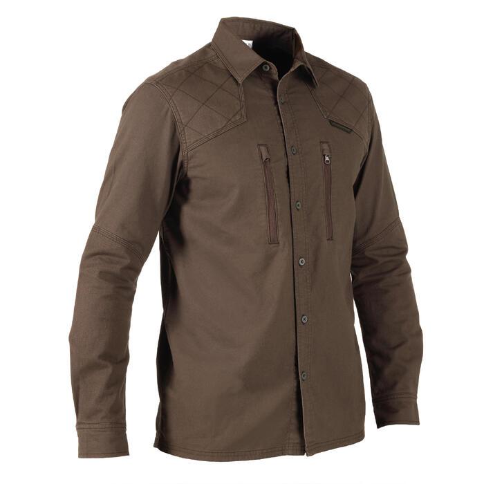 Overhemd voor de jacht Renfort 520 bruin