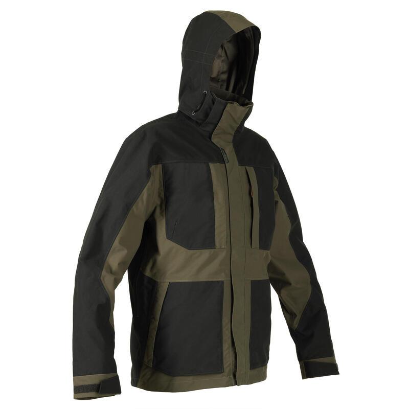 500 Reinforced Waterproof Hunting Jacket - Brown