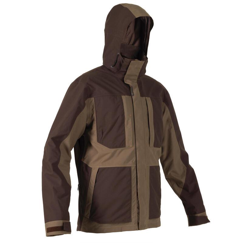 Waterdichte jas voor de jacht Renfort bruin 500