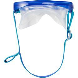 Kit masque tuba d'apnée freediving FRD120 bleu turquoise pour adultes