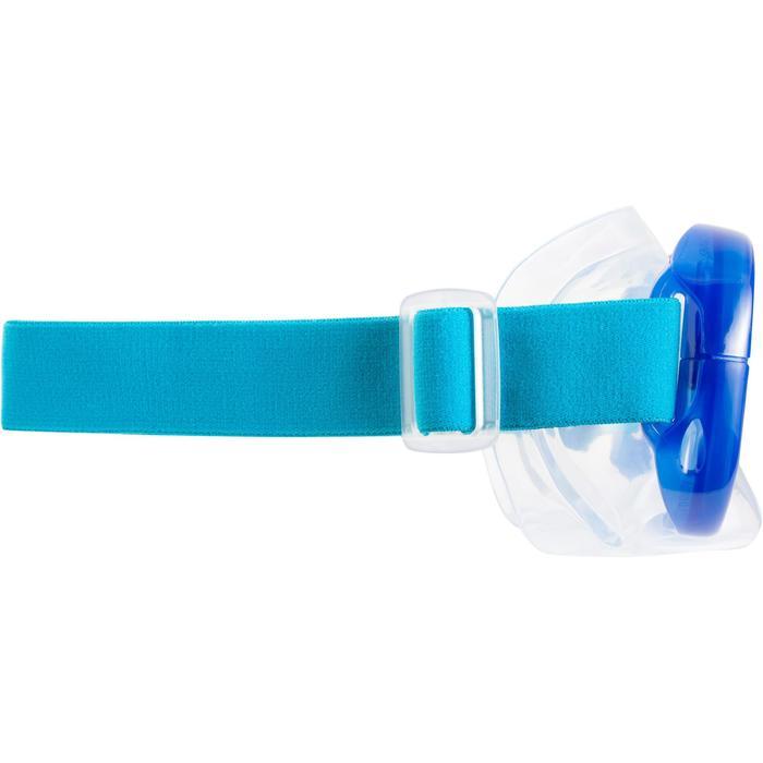 Set voor vrijduiken FRD120 volwassenen blauw turquoise
