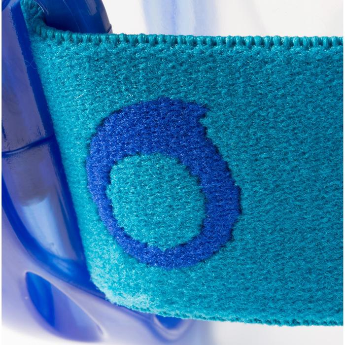 Snorkelset met duikbril en snorkel FRD120 volwassenen blauw turquoise