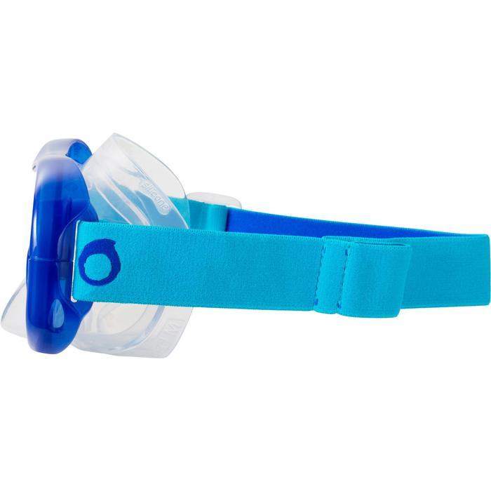 Kit máscara tubo de buceo en apnea FRD120 azul turquesa para adultos